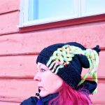 Power of Four free cables knitted hat