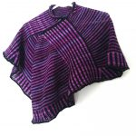 Cheshire Shawl knitting pattern horizontal and vertical stripes simultaneously