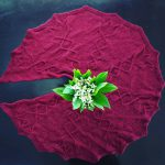 Lily of the Valley cable knitted shawl