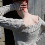Summer is here Wide neck cable eknit sweater