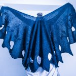 Scorpion Flower Cable knitted shawl inspired by Corpse Bridw