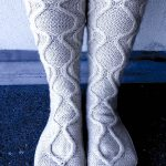 Antarctica Socks Cable knitting